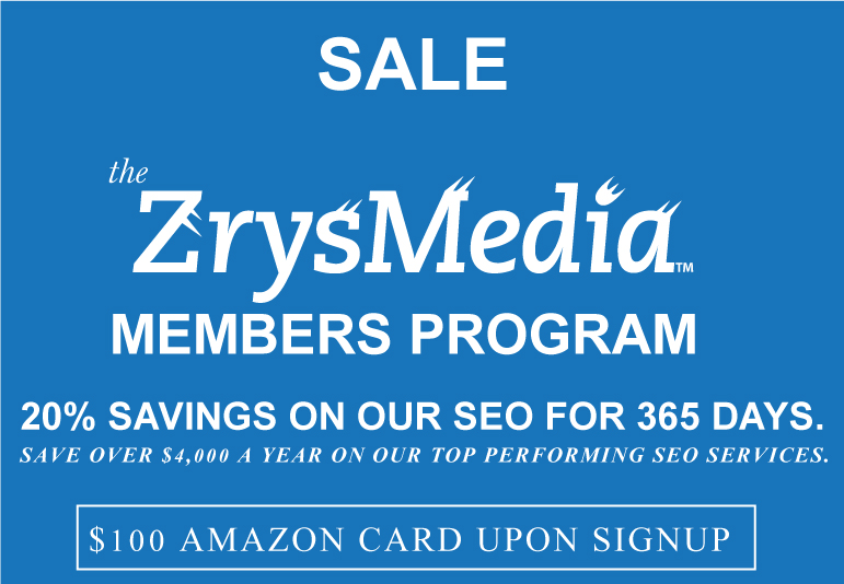 ZrysMedia members Program. Save 20 percent on our SEO services.